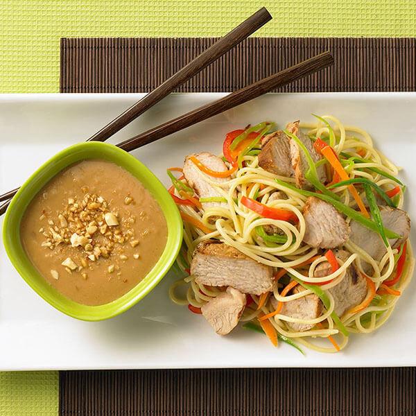 Nouilles asiatiques à la dinde sauce cacahuètes – Recipes
